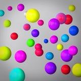 Fondo grigio astratto fatto delle sfere di colore Royalty Illustrazione gratis