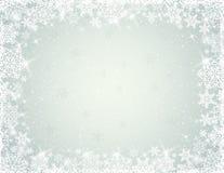 Fondo grigio con i fiocchi di neve, vettore illustrazione di stock