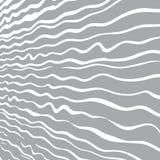 Fondo grigio con le linee disegnate a mano bianche dell'onda illustrazione vettoriale
