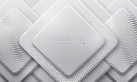 Fondo grigio con stile 3D Fondo luminoso con una combinazione di punti e di linee Priorit? bassa di vettore Eps10 royalty illustrazione gratis