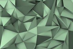 fondo grigio 3d con le ombre e le forme triangolari Fotografia Stock
