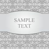 Fondo grigio del damasco dell'annata con la struttura Fotografie Stock Libere da Diritti