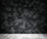 Fondo grigio del muro di mattoni di lerciume fotografia stock libera da diritti