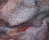 Fondo grigio dell'acquerello dell'estratto, blu e nero bagnato con le macchie Lavaggio dell'acquerello illustrazione vettoriale