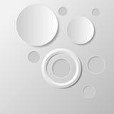 Fondo grigio dell'estratto del cerchio Fotografie Stock