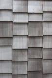 Fondo grigio delle mattonelle di tetto Fotografia Stock