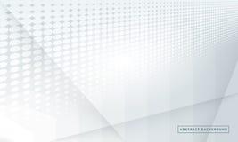 Fondo grigio di pendenza di Halfton Concetto di progettazione illustrazione vettoriale