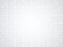 Fondo grigio di puzzle Fotografia Stock