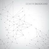Fondo grigio geometrico per la vostra progettazione ed il vostro testo Fotografia Stock