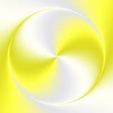 Fondo grigio giallo dell'estratto del cerchio di pendenza Fotografia Stock