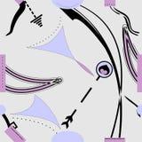 Fondo grigio lilla astratto, modello senza cuciture 18-12 Illustrazione di Stock