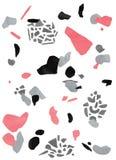 Fondo grigio, rosa di terrazzo dell'acquerello, nero royalty illustrazione gratis
