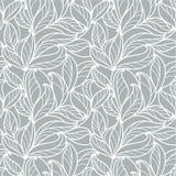Fondo grigio senza cuciture con le foglie royalty illustrazione gratis