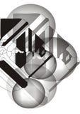 Fondo gris abstracto Fotografía de archivo libre de regalías