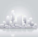Fondo gris abstracto de la ciudad