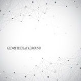 Fondo gris abstracto geométrico con las líneas y los puntos conectados Medicina, ciencia, contexto de la tecnología para su diseñ