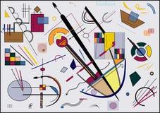 Fondo gris abstracto, inspirado por el pintor kandinsky Imágenes de archivo libres de regalías