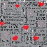 Fondo gris al día de tarjeta del día de San Valentín vendimia Conjunto 5 Vector Imagenes de archivo