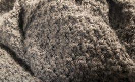 Fondo gris caliente detallado de tela de algodón Imagen de archivo libre de regalías