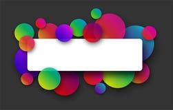 Fondo gris con los círculos de color Fotos de archivo