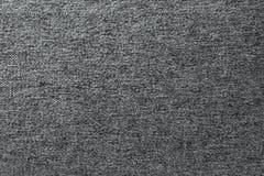Fondo gris de la textura del algodón Detalle de los materiales de materia textil foto de archivo