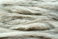 Fondo gris de lanas sin procesar Imagen de archivo libre de regalías