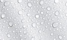Fondo gris de los descensos del agua Fotografía de archivo libre de regalías