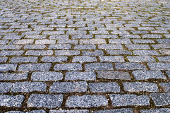 Fondo gris de piedras de pavimentación Fotografía de archivo