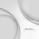 Fondo gris del extracto de la plantilla del vector con las líneas y la sombra de las curvas Para el aviador, el folleto, el folle Imagen de archivo libre de regalías