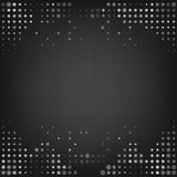 Fondo gris del extracto del punto del vector Imagen de archivo libre de regalías