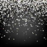 Fondo gris del invierno con nieve Imágenes de archivo libres de regalías