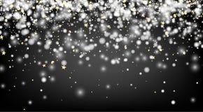 Fondo gris del invierno con nieve Foto de archivo libre de regalías