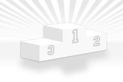 Fondo gris del podium Imágenes de archivo libres de regalías
