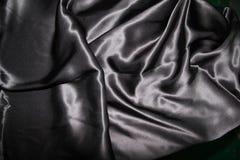 Fondo gris del satén Foto de archivo libre de regalías