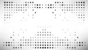Fondo gris múltiple del extracto del punto del ejemplo del vector Foto de archivo libre de regalías
