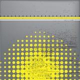 Fondo gris y amarillo Foto de archivo libre de regalías