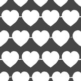 Fondo gris y blanco del día de tarjetas del día de San Valentín Vector el modelo inconsútil con los corazones blancos en fondo gr libre illustration