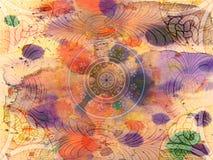 Fondo - Grunge - floral Imagen de archivo