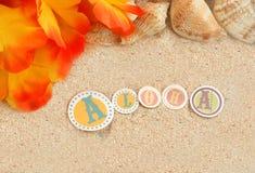 Fondo hawaiano de la playa foto de archivo libre de regalías