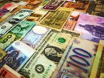 Fondo hecho de billetes de banco del dinero fotos de archivo