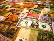 Fondo hecho de billetes de banco del dinero fotografía de archivo libre de regalías