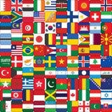 Fondo hecho de iconos de la bandera Imagenes de archivo