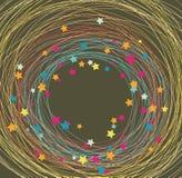 Fondo hecho de líneas y de estrellas Imagen de archivo libre de regalías