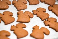 Fondo hecho de las galletas del pan de jengibre Imagen de archivo libre de regalías
