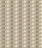 Fondo hecho de los billetes de banco del dólar Fotos de archivo libres de regalías