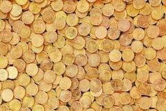 Fondo hecho de monedas polacas Fotografía de archivo libre de regalías