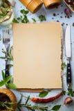 Fondo hecho en casa italiano de la comida del menú del arte Fotografía de archivo