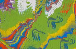 Fondo hecho a mano multicolor del extracto Arte flúido ilustración del vector