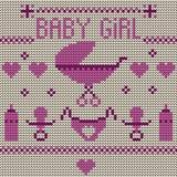 Fondo hecho punto bebé Fotos de archivo libres de regalías