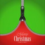 Fondo hecho punto de la Navidad con la cremallera del hierro Imagen de archivo libre de regalías